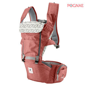 [POGNAE] All New NO5 hip seat baby carrier-wine