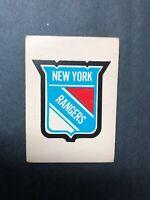1977 O Pee Chee Team Logo - Team Records New York Rangers