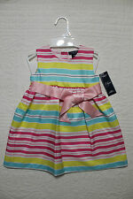 New Baby Girls Ralph Lauren Chaps Spring Dress With Bloomers 18 Month Nwt $44