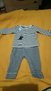 Baby Boys Outfit Striped With Dinosaur 6 Months. Mrp $35