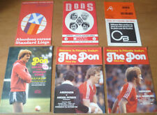 Away Teams A-B Aberdeen Written - on Football Programmes