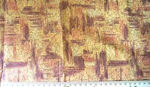 Pink/Cream Abstract Print Fabric - 112cmx98cm