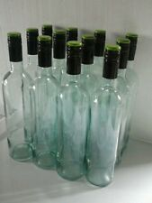 48 EMPTY WINE BOTTLES BORDEAUX  STYLE ACQUA TINT COLOR SCREW CAP