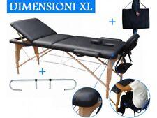Camilla de masaje 3 zonas negro + Soporte Portarrollo x mesa Cama banco plegable