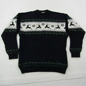 Eisbar Sweater Adult XL Men Blue Green Fair Isle Wool Australia Cable Reindeer