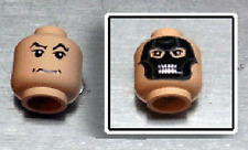 LEGO Harry Potter - Death Eater Mask / Black Raised Eyebrows and Grim Mouth