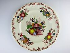 Mason's China FRUIT BASKET Red Muti Color Dinner Plate(s)