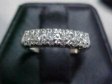 *ANTIQUE*DECO*1920 DIAMOND BAND-RING 14K WHITE GOLD sz4.75 **NO RESERFVE**