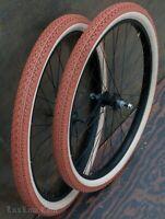 "26"" Black Cruiser Bike WHEELS Tires Skiptooth Chain Hub Vintage Schwinn Bicycle"