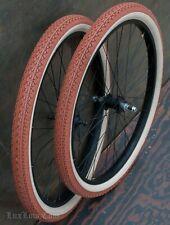 """26"""" Black Cruiser Bike WHEELS Tires Skiptooth Hub Vintage Prewar Schwinn Bicycle"""