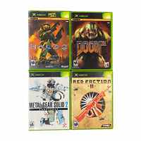 Xbox Video Game Lot Bundle Halo 2 Doom 3 Metal Gear Solid 3 Red Faction II