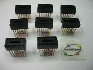 IC Socket 14-Pin DIP Wire-Wrap Gold Plated - NOS Qty 8