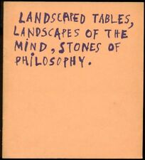 DUBUFFET, Landscaped Tables, Landscapes of the Mind, Stones of Philosophy. 1952