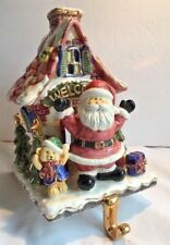 Vintage Santa Stocking Holder And Tea Light Early 1990's? Dost. By Long's Drugs