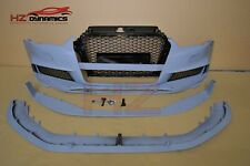 RS3 CLUBSPORT LOOK FRONT BUMPER FOR AUDI A3 S3 2013 2015 8V 4DR SALOON FULL MESH