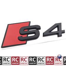 Audi S4 Matte Black Car Rear Side Tail Boot Badge Sticker Emblem Decals