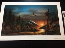 """Terry Redlin """"Flying Free"""" limited edition signed print"""