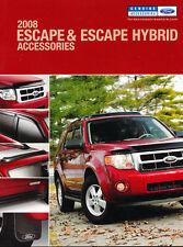 2008 Ford Escape And Hybrid Accessories Original Car Sales Brochure Catalog