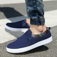 US Men's Casual Canvas Loafers Breathable Driving Boat Shoes Slip on Sneakers