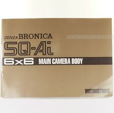 Rare Zenza Bronica SQ-Ai Instruction Manual Book Main Camera Body Medium Format