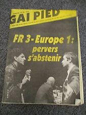 magazine  gai pied    gay interest numero 36 1982  renaud sechan