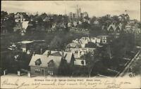 St. George Staten Island NY Birdseye View c1905 Postcard
