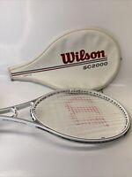 Wilson SC2000 Composite Large Head Tennis Racket Ceramic Graphite - 4 1/4 white
