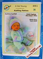 DOLLS KNITTING PATTERN for16-18 inch Bay Born  doll No. 251 by Daisy-May