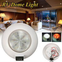 21 LED 12V White Red RV Interior Dome Light Boat Caravan Car Round Ceiling Cabin