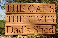 Signo de casa de Roble Personalizado, Tallado, Placa de Nombre de madera Personalizado Grabado Al Aire Libre