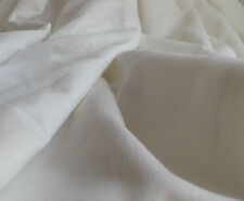 "Heavy Woven White 100% Irish Linen 59"" Designer Curtain Fabric"