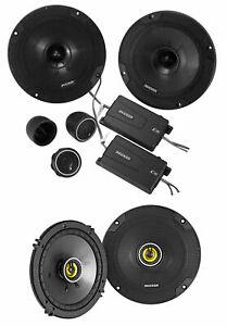 "KICKER 46CSS654 6.5"" 600w Car Audio Component Speakers+2) 46CSC654 6.5"" Speakers"