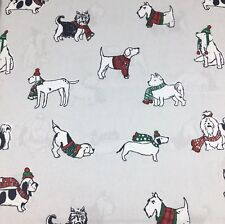4pc Cynthia Rowley King Sheet Set Holiday Dog Winter Sweater Hat Scarf Christmas