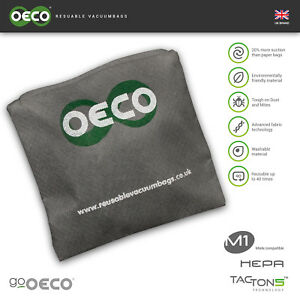 OECO® Miele Type FJM Reusable hoover bag Cylinder Series vacuum dust bag for