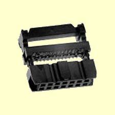 100 pcs. Pfostenverbinder Pfostenbuchse 14polig Flachbandkabel mit Zugentl.  #WP