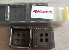 2x AMP PLCC 28 Pin IC Socket Adapter Converter Through Hole