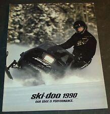 VINTAGE 1990 SKI-DOO MACH 1 & FULL LINE SNOWMOBILE SALES BROCHURE 24 PAGES