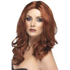 Womens Auburn Superstar Wig Long Wavy Parting Fashion Fancy Dress Beauty Ginger