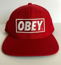Obey Box Logo Hat Baseball Cap Snapback Propaganda Embroidered Patch Logo Red
