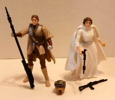 Star Wars POTF2 1st Princess Leia and 1st Boushh Leia Figure Lot! Complete!