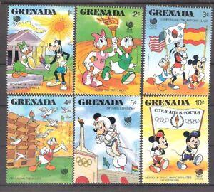 Grenada 1988 Disney Characters Summer Olympics MNH (SC# 1582-1587)