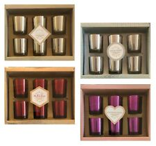 Home Set of 6 Fragrance Scented Votive Candles Prosecco Gin Mulled Wine Bellini