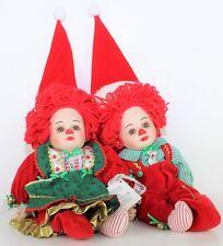 "Jingles & Belle Marie Osmond Porcelain Dolls 11"" Twin Series Elf Holidays Dolls"