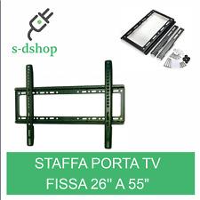 """SUPPORTO STAFFA PARETE TV LCD PLASMA DA 26"""" A 55"""" POLLICI VESA 110LBS 50 KG"""