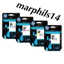 HP 88 Genuine Black, Cyan, Magenta, Yellow  Ink Cartridges HP 88
