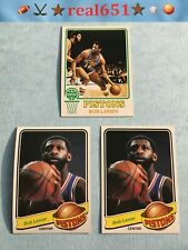 1973 + Topps #110 BOB LANIER Lot x 3 Vintage | 1979 58 Detroit Pistons HOF Batch