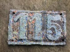 Vintage 1900's Cast Iron Sign House Number 115