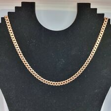 9ct Rose Gold Flat Curb Chain Necklace 18 Inches Hallmarked