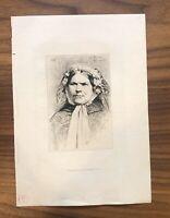 Amand Durand Heliogravure Paris Etching Portrait Woman
