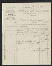"""AMIENS (80) USINE d'HALLENCOURT & CAGNY / LINGES DE TABLES """"DENEUX Freres"""" 1906"""